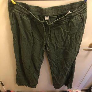 Old navy wide leg flowy green pants